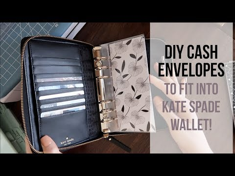 HOW TO MAKE CASH ENVELOPES | TUTORIAL | Kate Spade planner wallet, filofax | SPECIAL ANNOUNCEMENT!
