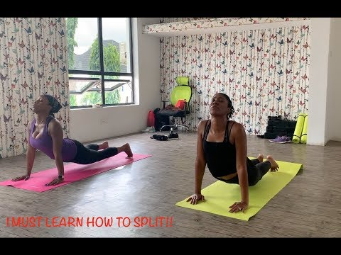 DOING YOGA IN NIGERIA | LEARNING HOW TO SPLIT | SHANTELE CM