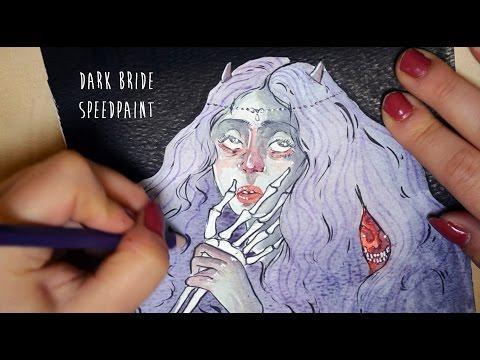 the-dark-bride---halloween-watercolour-speedpaint