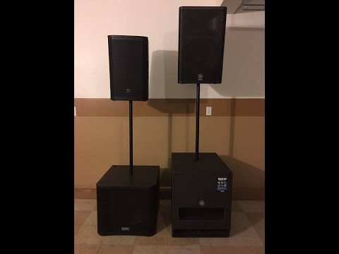 QSC vs EV vs YAMAHA SUBS And TOPS - YouTube