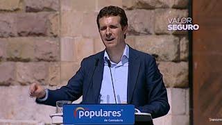 """Casado: """"Cuando sea presidente no va a haber referéndum en Cataluña"""""""