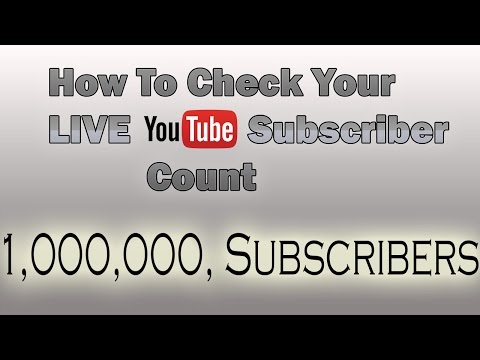 How To Look At Your Youtube Subscriber Count (LIVE!!)