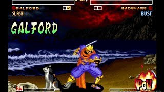 Samurai Shodown IV: Galford playthrough / lvl-8 【60fps】