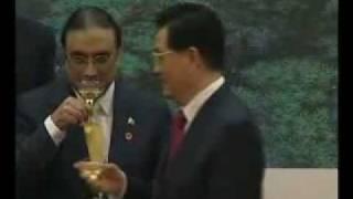 Pakistan President Asif Zardari Drinking EXCLUSIVE