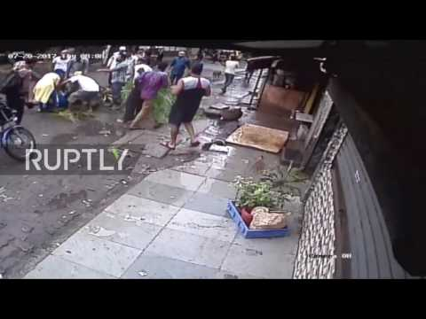India: Woman hit by falling coconut tree dies in hospital *GRAPHIC*