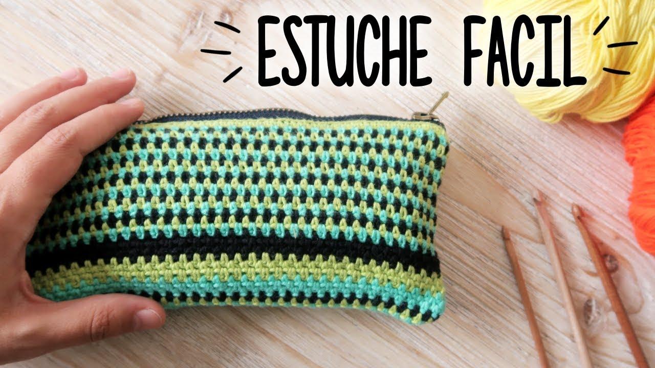 5208e6315 Como tejer un ESTUCHE a crochet (NECESER / CARTUCHERA) | Tutorial PASO A  PASO | Ahuyama Crochet
