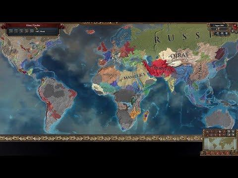 Europa Universalis 4 AI Timelapse - The Wild Ride Mod 1444-2666  