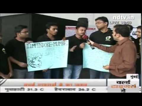 IIM Indore Mumbai Campus supports  NDTV Save the Tigers Campaign
