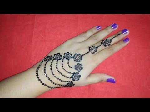 Most Popular Stylish Ornamental Back Hand Mehndi Design