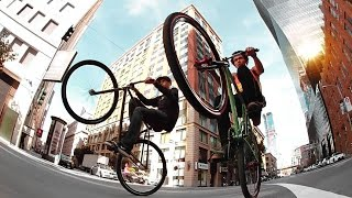 Fixed Gear Freestyle - Andy Sparks & Mike Chacon - Bridging The Gap