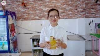 Hướng dẫn cách pha chế Trà đào trái cây (Trà nhiệt đới hạt chia)