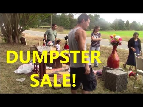 NEW WORLD HOARDERS:  First Roadside Dumpster Sale in Our Abandoned House