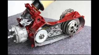 yamaha aerox mbk nitro minarelli  révision  kitt malossi 70 cc montage cylindre embrayage ........