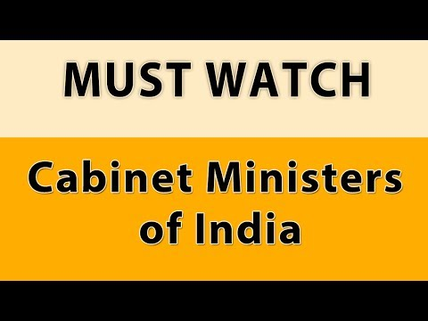Indian Cabinet Ministers list (2017)GK FOR SSC CGL, CHSL. MTS, BANKPO, CLERK. RAILWAY