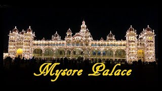 A Glimpse of Mysore Palace at Night HD
