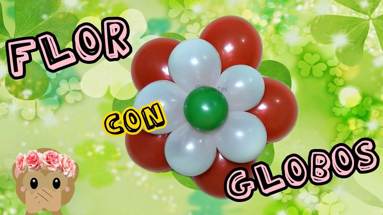 como hacer flores con globos paso a paso para fiesta o cumpleaos maquitips - Como Hacer Flores Con Globos