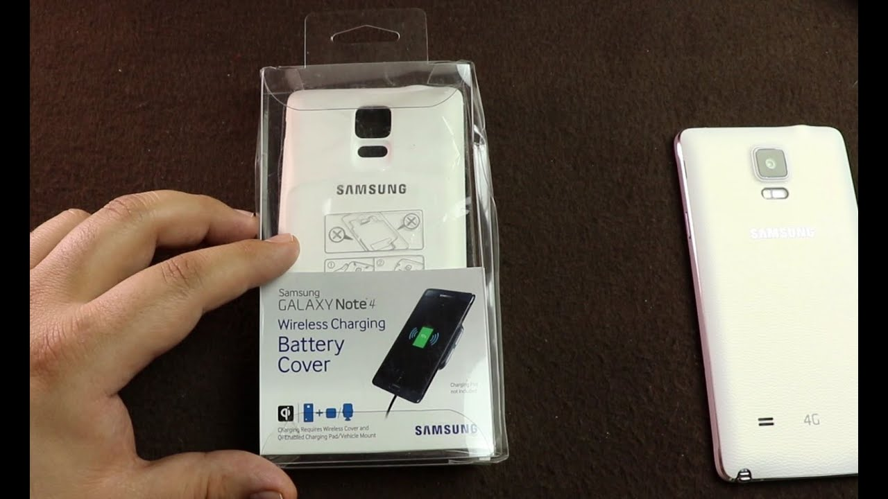 quality design 88222 f1dfd Samsung Galaxy Note 4 Wireless Charging Battery Cover