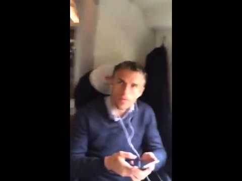 Manchester City Fan Meets Phil Neville On The Train.