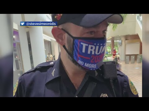 Miami-Police-Officer-Under-Investigation-For-Wearing-Pro-Trump-Mask-While-In-Uniform-To-Early-Vote