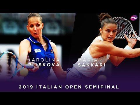 Karolina Pliskova vs. Maria Sakkari | 2019 Italian Open Semifinal | WTA Highlights