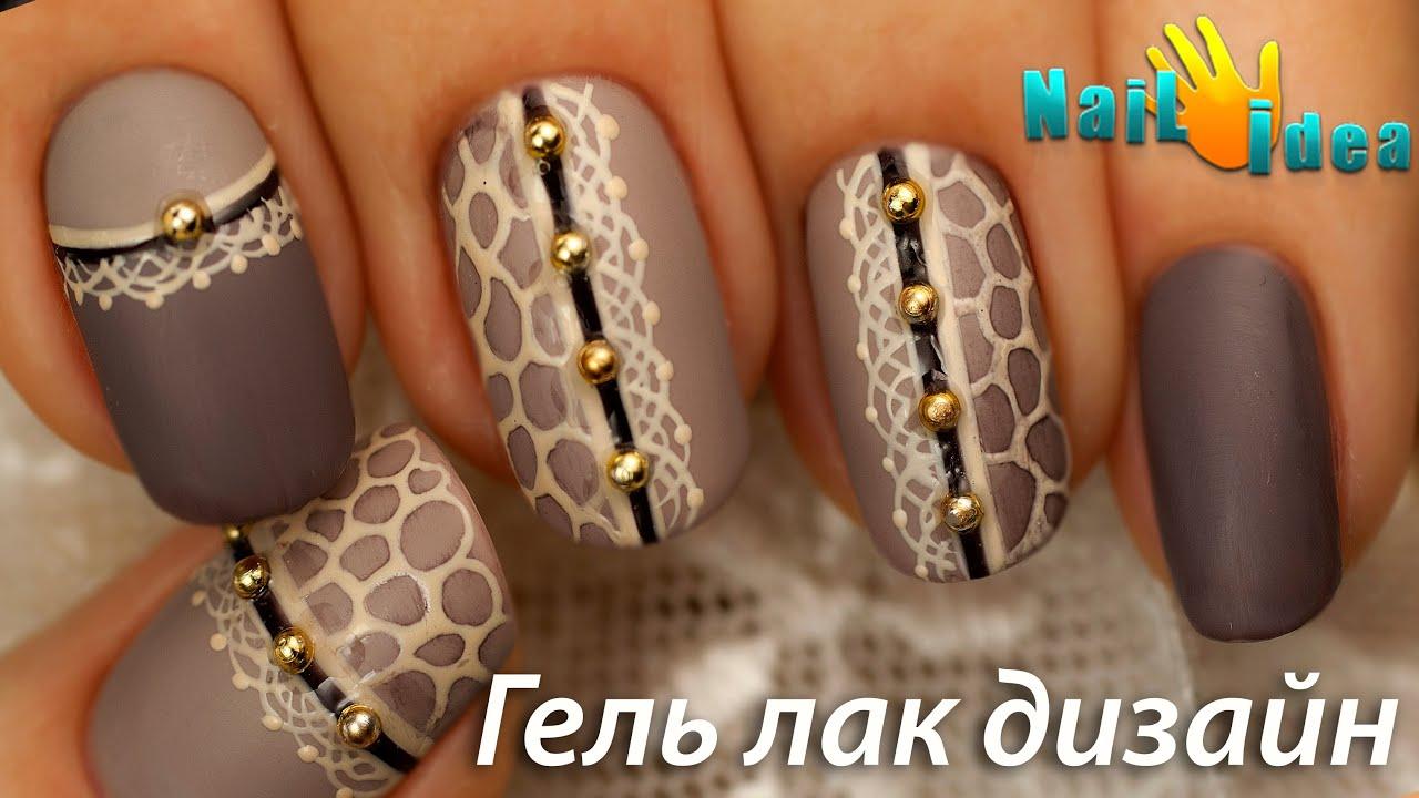Фото белый острый френч со стразами на ногтях