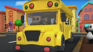 Wheels On The Bus Go Round And Round | Nursery Rhymes | Kids Songs