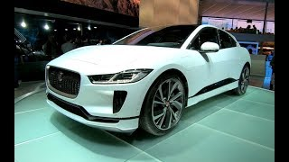 JAGUAR I PACE EV400 ELECTRIC SUV VEHICLE NEW MODEL 2018 WORLD PREMIERE WALKAROUND + INTERIOR