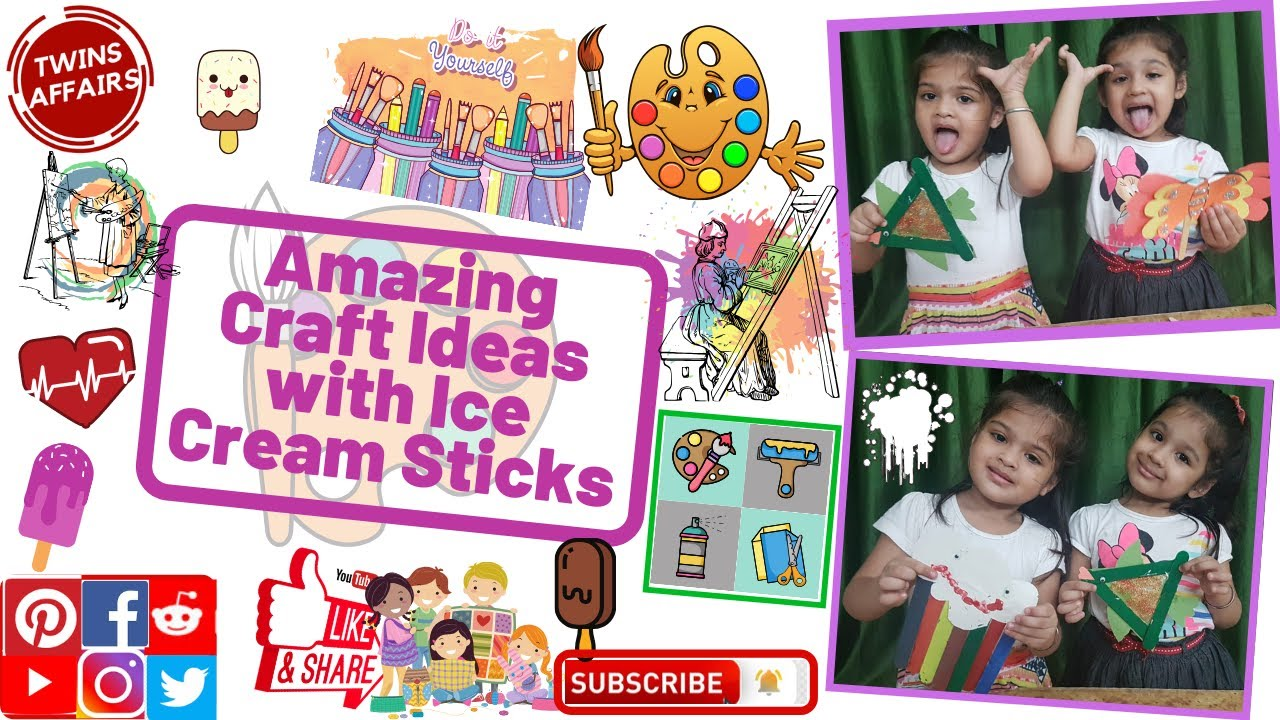 Amazing Craft Ideas with Ice Cream Sticks | Art and Craft| Fun with Colours |