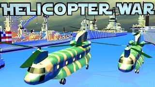 minecraft war   helicopter wars apache helicopters aircraft carriers