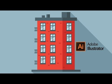 How to Draw a BUILDING Step by Step - Illustrator Tutorial thumbnail