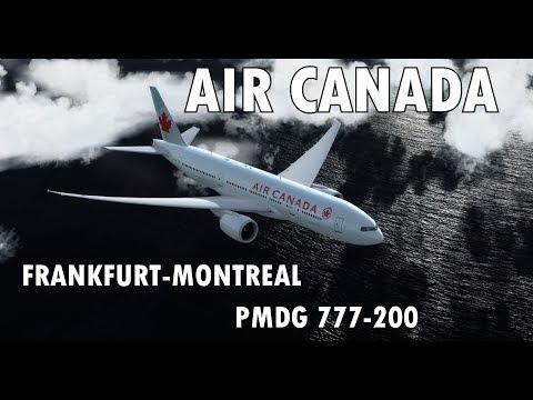 [P3Dv4] Frankfurt - Montreal | PMDG 777-200 Air Canada