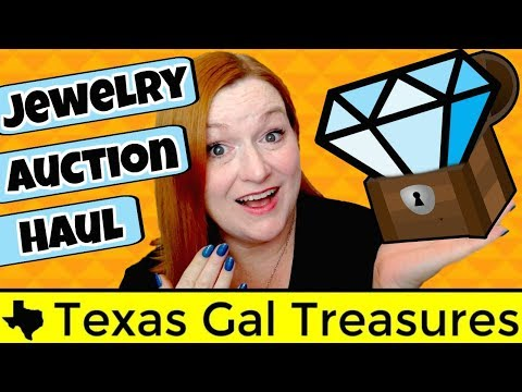 Online Jewelry Auction Haul Unboxing!  What Lots Did I Win?