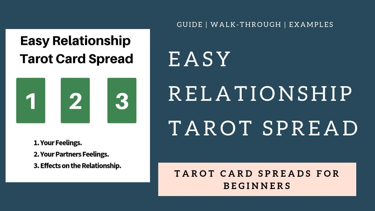 Love and Relationship Tarot Card Spread Tutorial