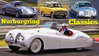 Classic Cars & Youngtimers at Nürburgring Nordschleife Touristenfahrten 2018 - XK 120, 300 SL & More