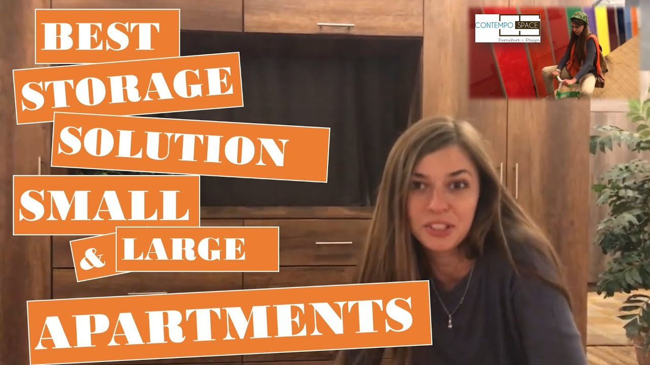 BEST Storage Hack For Small NYC Apartment Or Studio | Bedroom Wall Unit