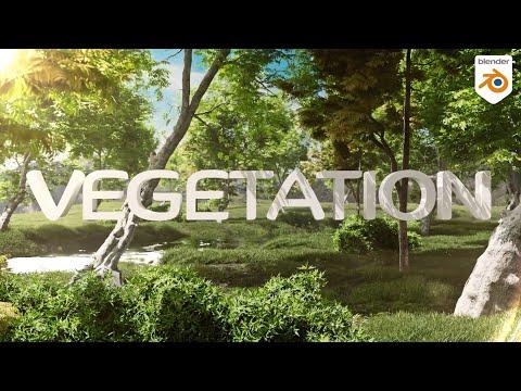Vegetation addon for Blender - Tree plant and animation !