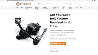 How to get your Seat Belts repaired & Airbag Light Reset After Accident