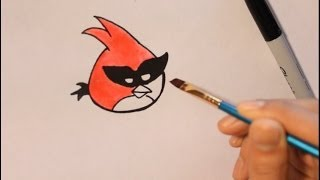 How To Draw Super Red Bird From Angry Bird Space