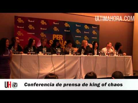 Conferencia de prensa de king of chaos en Paraguay