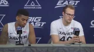 Xavier Press Conference: Matt Stainbrook and Trevon Bluiett (2-14-15)