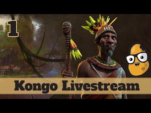 Deity Kongo - Atlas Mods -  Earth Map - Civ 6 Livestream Part 1