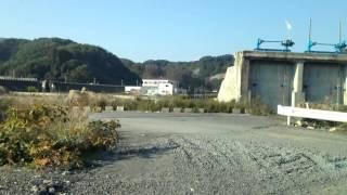 2012年10月21日現在の田老駅~田老漁港 (岩手県宮古市)
