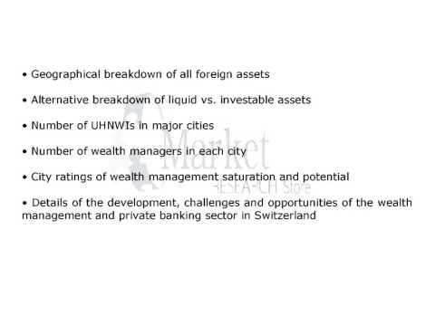 Switzerland Wealth Report Industry 2015 Demand Tre