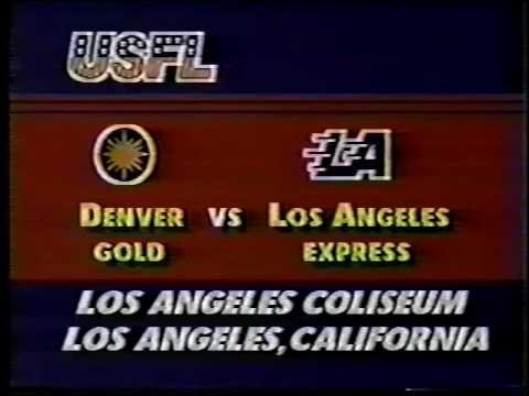 1984 USFL Denver Gold at Los Angeles Express