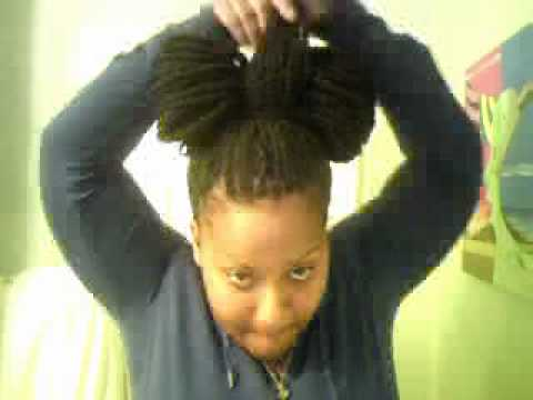 Kinky Twist updo - lady gaga's bow tie tutorial - YouTube