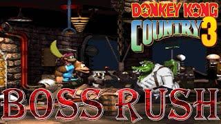 Donkey Kong Country 3 - Boss Rush (All Boss Fights, No Damage)