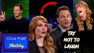 Chris Pratt & Bryce Dallas Howard Play Funny Games - Jurassic World: Fallen Kingdom - 2018