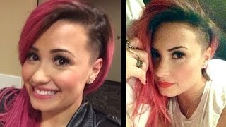 Demi Lovato Shaves Side of Her Head!