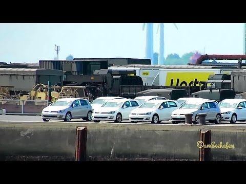 Emden Port Emskai export cars and special purpose vehicles waiting for transport