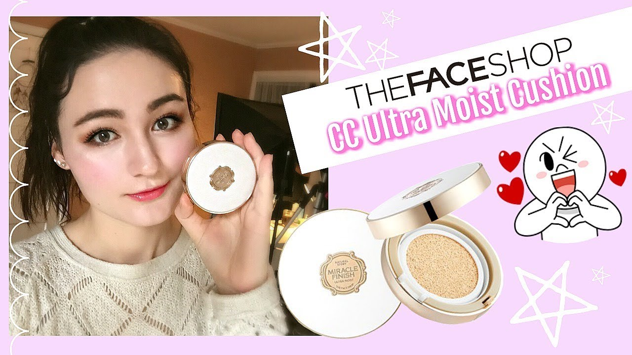 The Face Shop Miracle Finish CC Ultra Moist Cushion ♡ FIRST ...